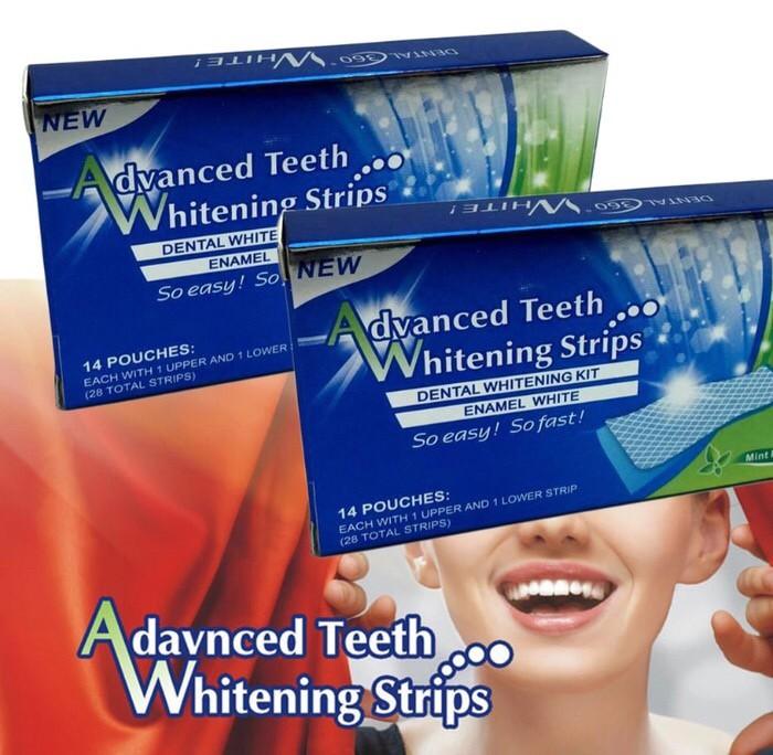 Produk plester pemutih gigi