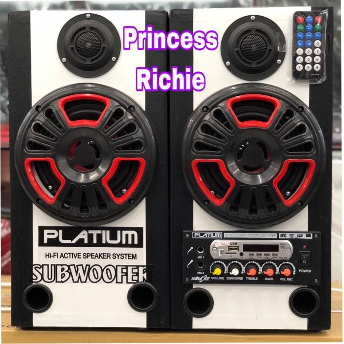 harga Speaker active platium bluetooth fm radio usb subwoofer karaoke Tokopedia.com