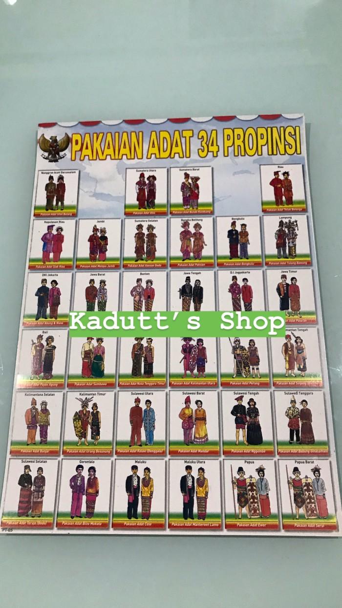 Jual Poster Edukasi Pakaian Adat Mainan Murah Jakarta Barat Kadutt S Shop
