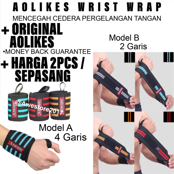 harga Aolikes wrist wrap wraps strap straps weightlifting support gym Tokopedia.com