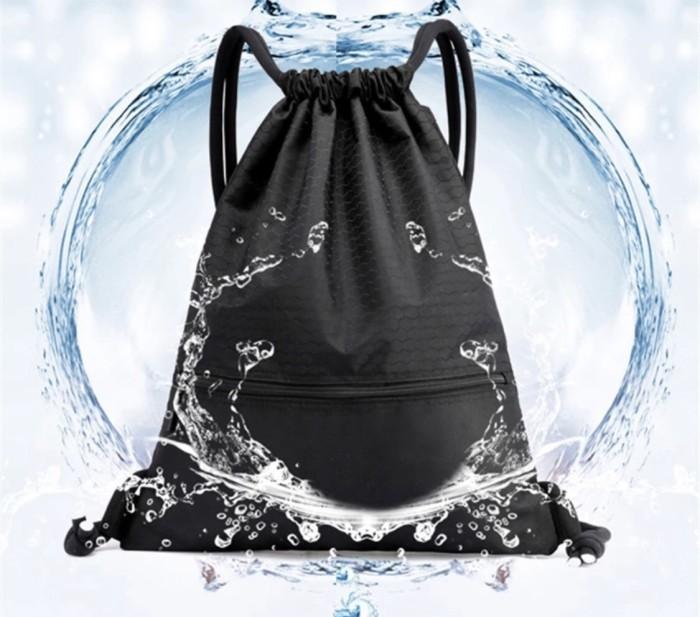Foto Produk Waterproof Travel Bag Size M , Drawstring Sport Backpack Tas Serut dari PANACHE