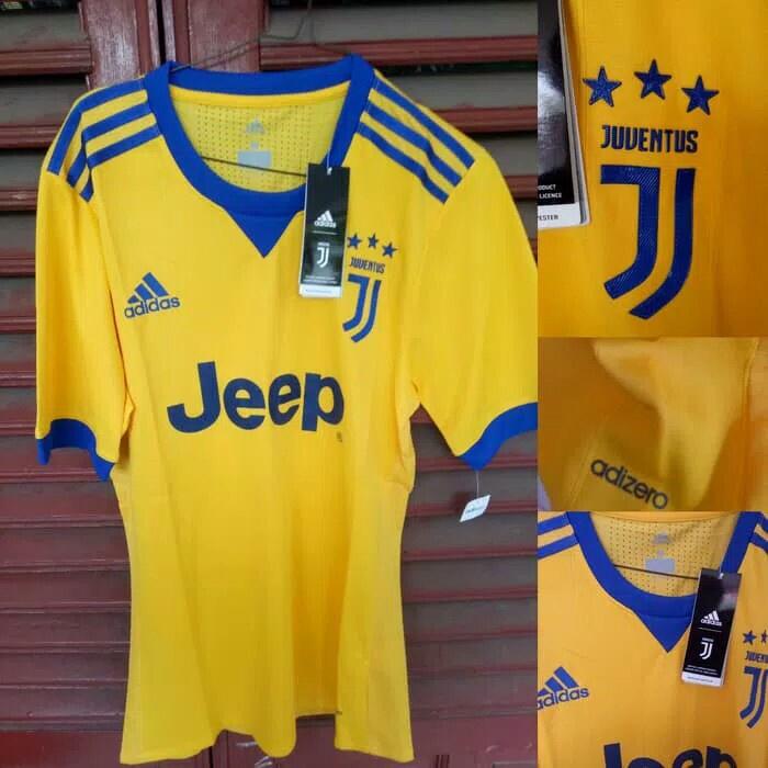 Jersey Kaos Baju Bola Juventus Away Climachill 2017 2018 Grade Ori