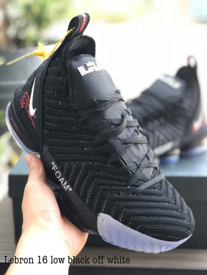 meet 0ce77 d7838 sepatu basket nike lebron 16 low off-white black