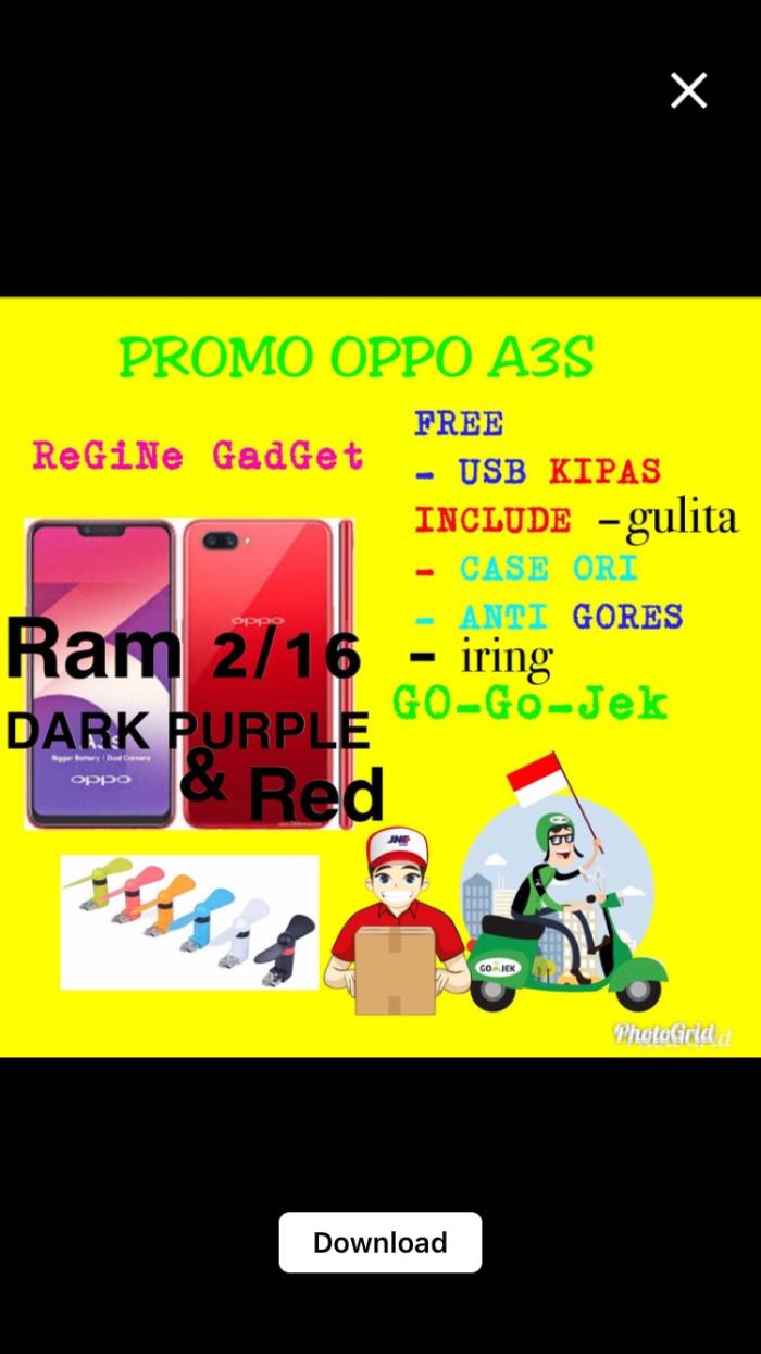 harga (oppo a3s) ram 2/16 gb garansi resmi 100% & free usb kipas angin Tokopedia.com