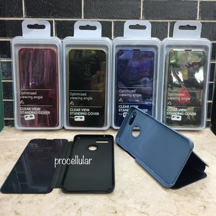 Jual Case Oppo F9 F9 Pro Casing Clear View Standing Cover Flip Mirror Case  - Jakarta Utara - procellular | Tokopedia