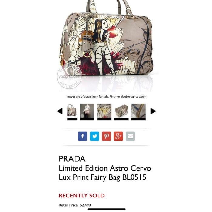 Jual TAS PRADA LIMITED EDITION ASTRO CERVO LUX PRINT FAIRY BAG ... f6c60e9932f56