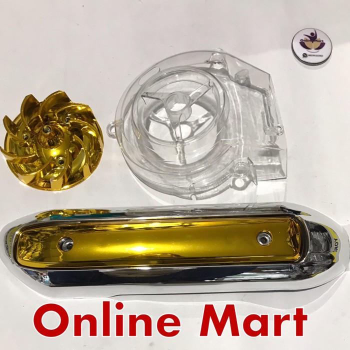 harga Cover tutup kipas plus tutup knalpot gold mio smile mio sporty crome Tokopedia.com