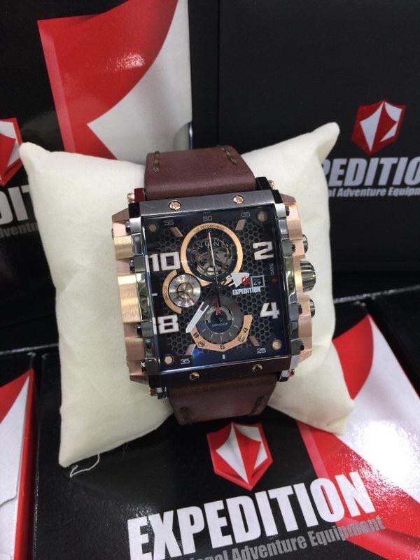 harga Jam tangan pria expedition e6757 m rosegold black kulit coklat Tokopedia.com