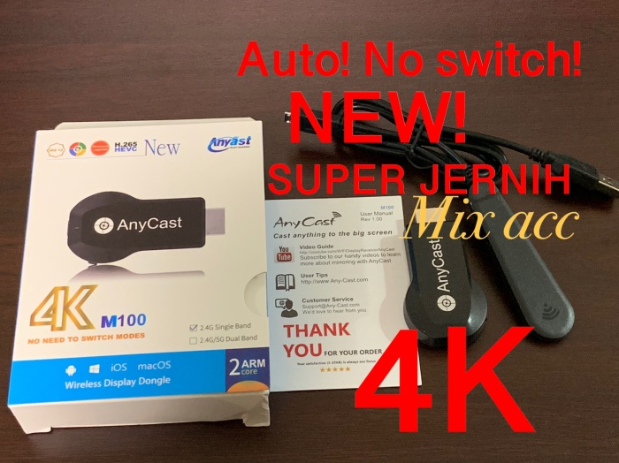 Jual Anycast M100 4K HD Wifi Display TV Dongle Wireless HDMI Dongle Anycast  - Jakarta Utara - Mix acc88   Tokopedia