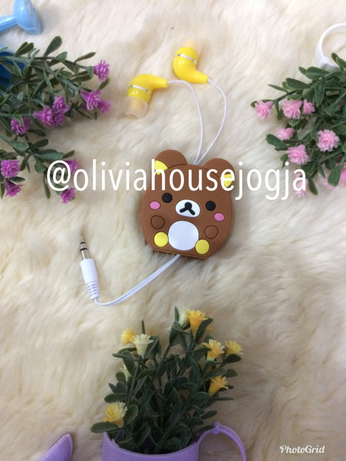 harga Headset roll earphone headphone ufuffy rilakuma Tokopedia.com