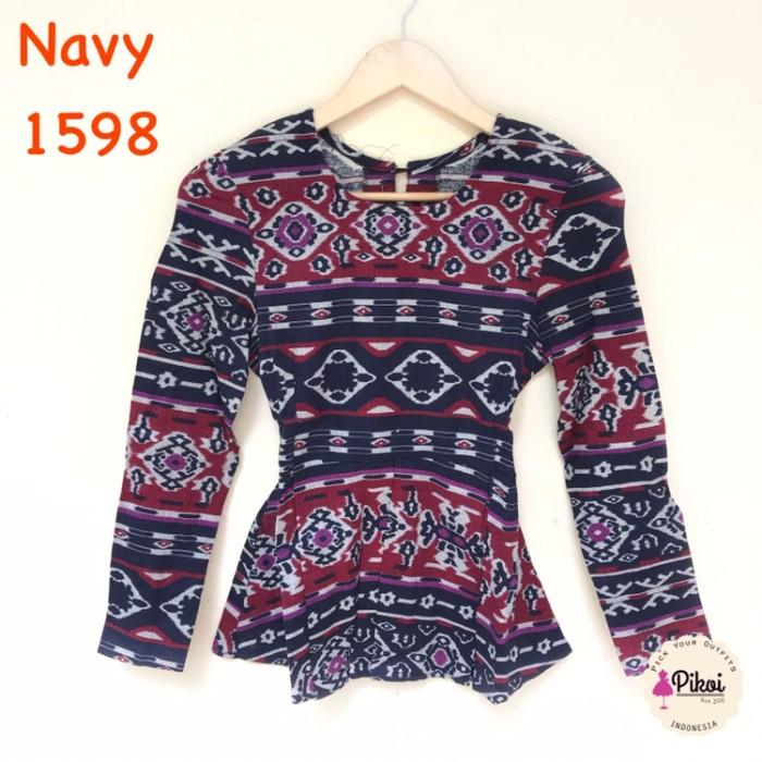 Baju Batik Wanita Modern   Batik Kantor Murah   Atasan Batik Kerja 791 993431bfa4
