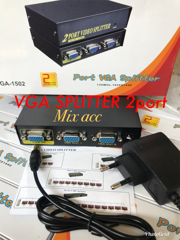 Foto Produk Vga Spliter 2 Port / Splitter vga 1-2 dari Mix acc88
