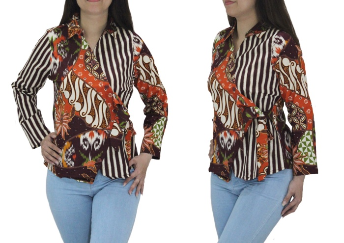 Jual Top Kimono Batik Cek Harga Di Pricearea Com
