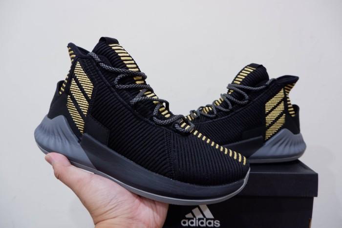 2627780e757 Jual Adidas Derrick Rose 9 High Black Gold - Kota Batam - RR7 Shop ...