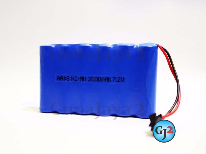 Foto Produk Baterai Rakit 6 Soket Hitam Baterai RC 7,2V soket Kecil 1000Mah dari nizam Guna Jaya2