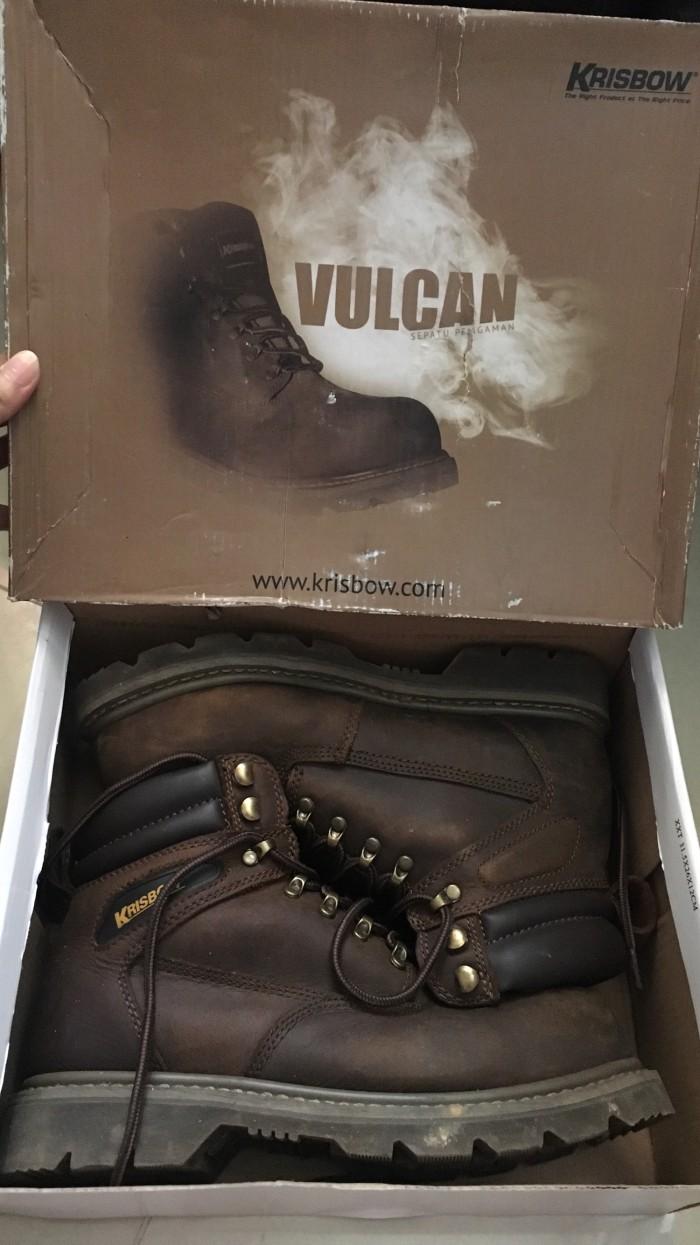 5c67e0af563 Jual Krisbow Vulcan safety shoes brown size 39 - Kota Bekasi - Classic  Rustic | Tokopedia