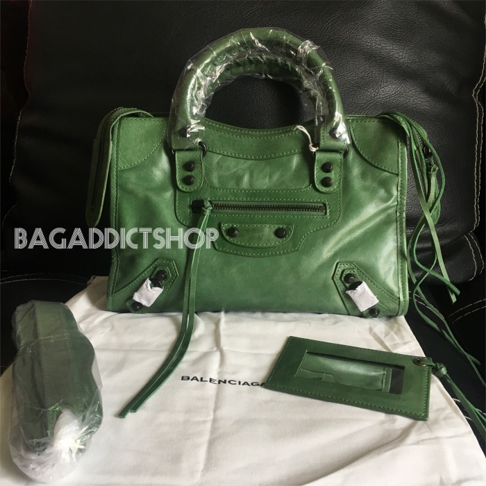 Jual Jual Tas Balenciaga Small city Green BHW Mirror 1 1 Ori leather ... a78cdd422a