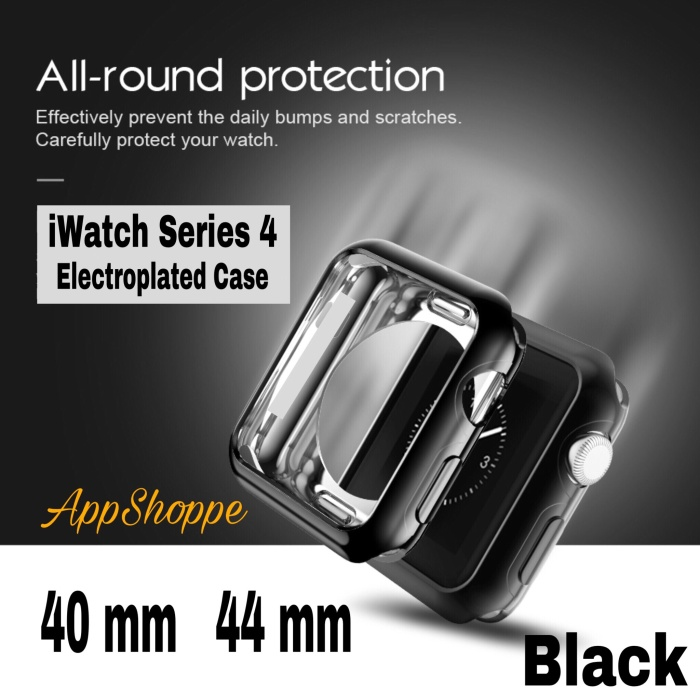 Foto Produk Apple iWatch Series 4 TPU BLACK ELECTROPLATE Soft Case Cover 40 44 dari AppShoppe