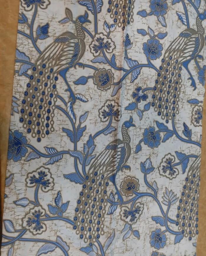 Paket batik katun print biru