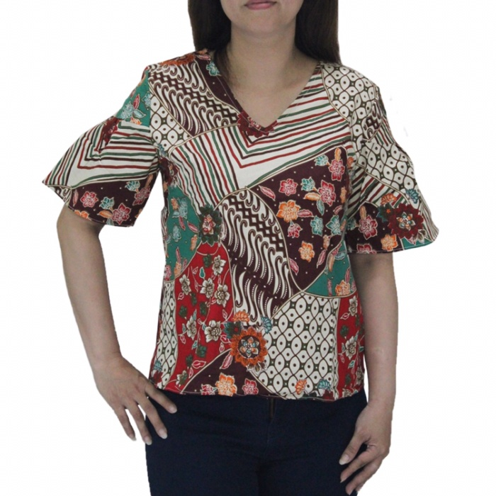 Jual 259bc Baju Batik Wanita Lengan Pendek Crop Top Model Terbaru Jakarta Utara 35an Tokopedia