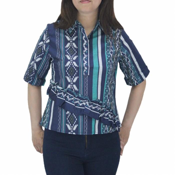 harga Baju batik songket wanita lengan pendek untuk atasan kerja busui Tokopedia.com