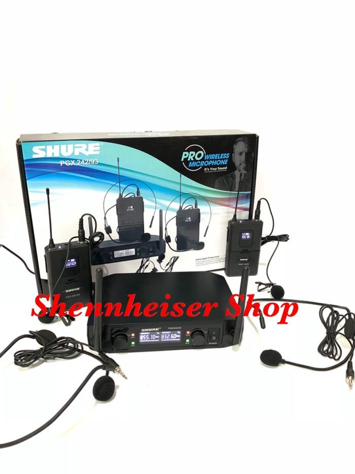 harga Mic shure pgx 242 93 new wireless microphone dual clip on headset Tokopedia.com