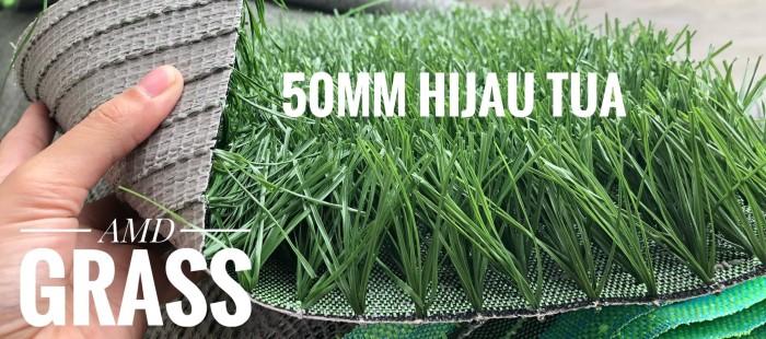 rumput sintetis tinggi 50mm/5cm untuk lapangan futsal