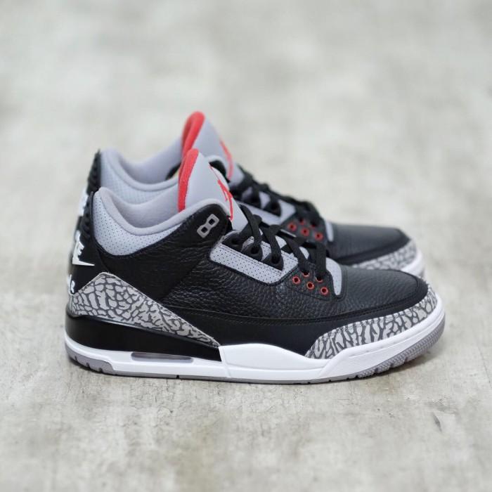 369899eac896 Jual Air Jordan 3 Black Cement - 807GARAGE