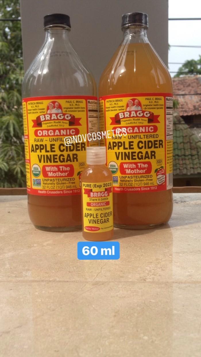 PURE 60ml Cuka Apel Bragg Apple Cider Vinegar Share in Bottle Murni