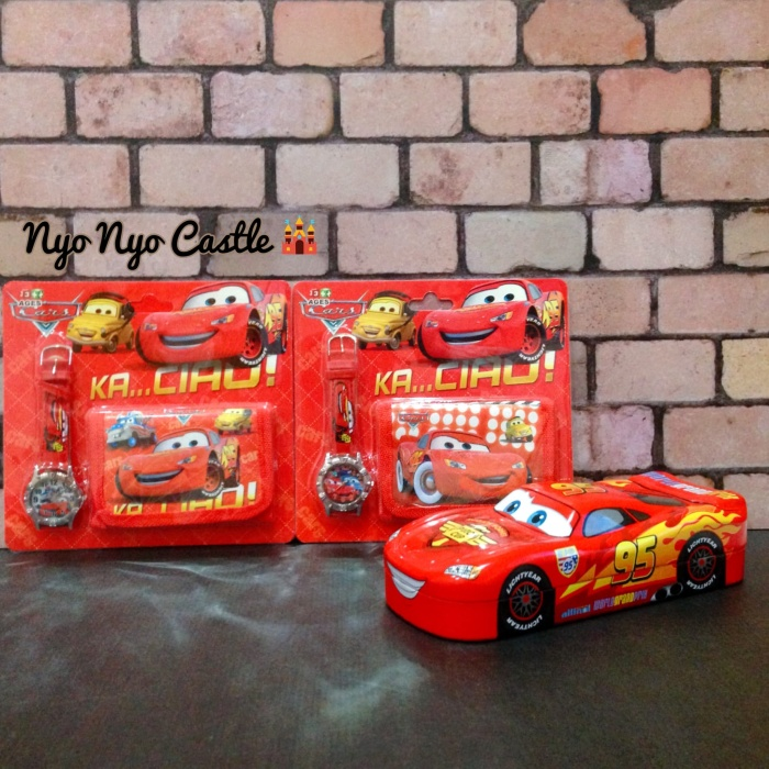 Jual Set Jam Tangan + Dompet Anak Cars Mcqueen - Nyo Nyo Castle ... f44565f3bf