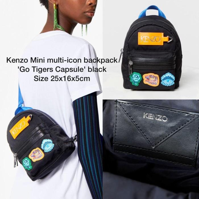 b65142c332 Jual Tas Kenzo Mini multi-icon backpack Go Tigers Capsule - black ...