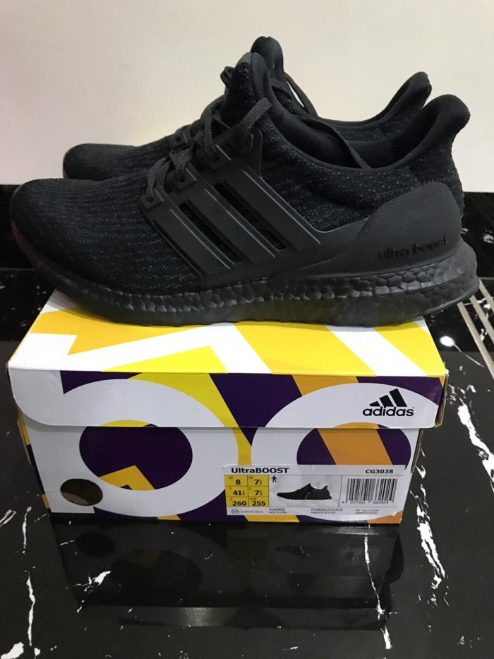 3bce41363b665 Jual Ultra Boost 3.0 Triple Black Pads like new original - Hype Kix ...