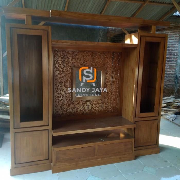 Jual Partisi Minimalis Jati 220 Cm Sketsel Minimalis Jati Bufet Tv Jati Kab Jepara Sandy Jaya Furniture Tokopedia