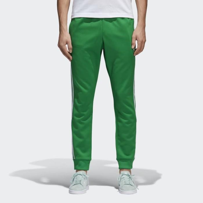stort urval av stabil kvalitet 50% pris Jual Adidas Men Superstar Track Pants Adicolor Green Originals ...