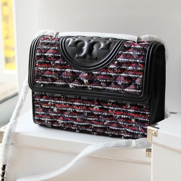 7c2e1115cc02 Jual Tory Burch Fleming Tweed Convertible Shoulder Bag - DKI Jakarta ...