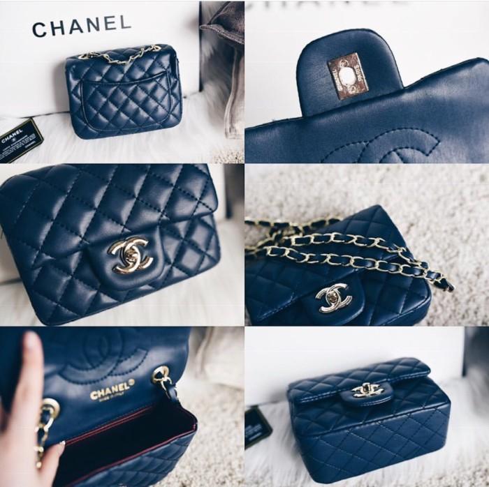 0b573f7b8906 Jual Detail bag Chanel Classic Square Flip Flap Mini Bag - Kota ...