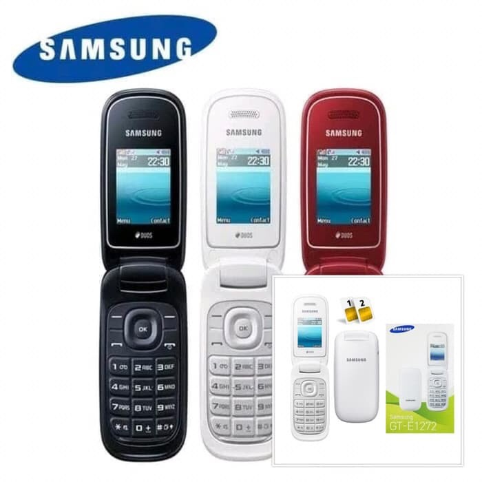 Foto Produk Handphone samsung Caramel GT-E1272 lipat HP samsung caramel Flip E1272 dari Saven acc