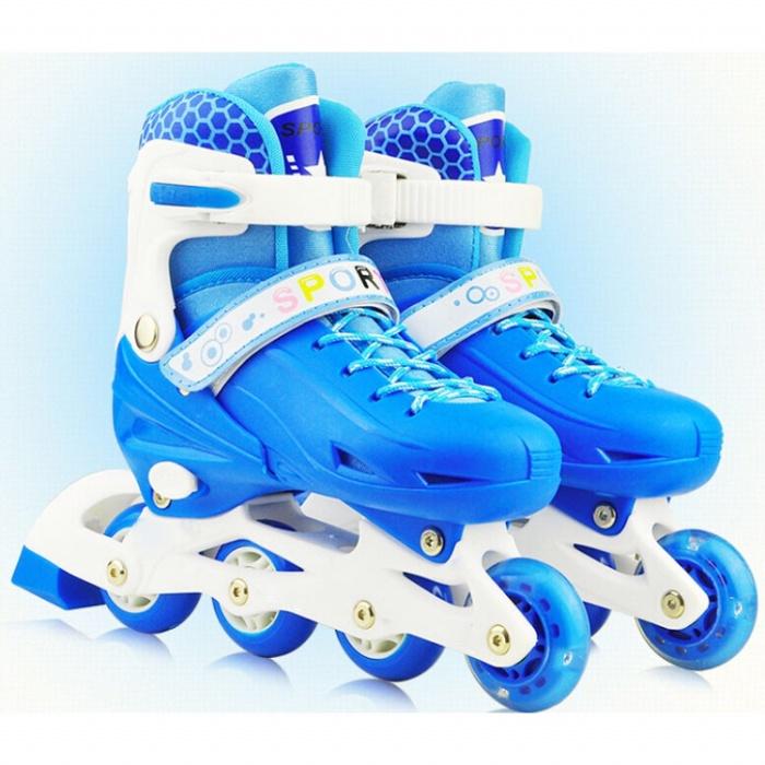 Roller skate sepatu roda anak dengan set pengaman size s - blue 38f6bd189e