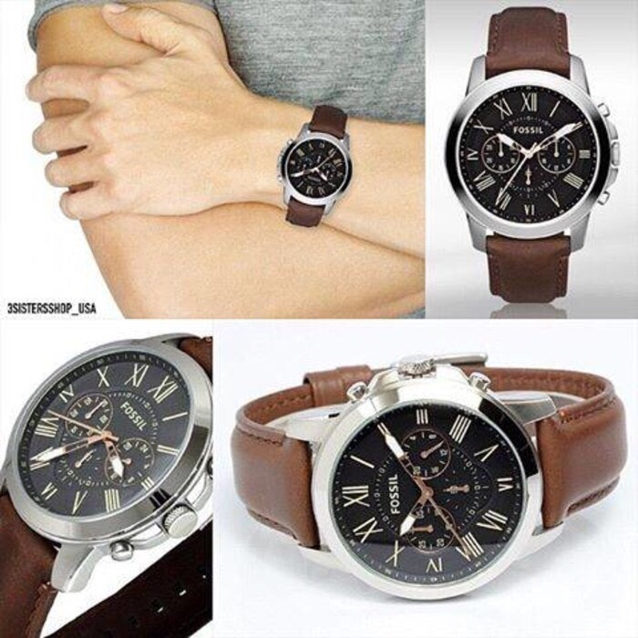 Foto Produk Jam Tangan Pria Merk Fossil Type FS4813 / FS 4813 Original Leather dari Timewatch888