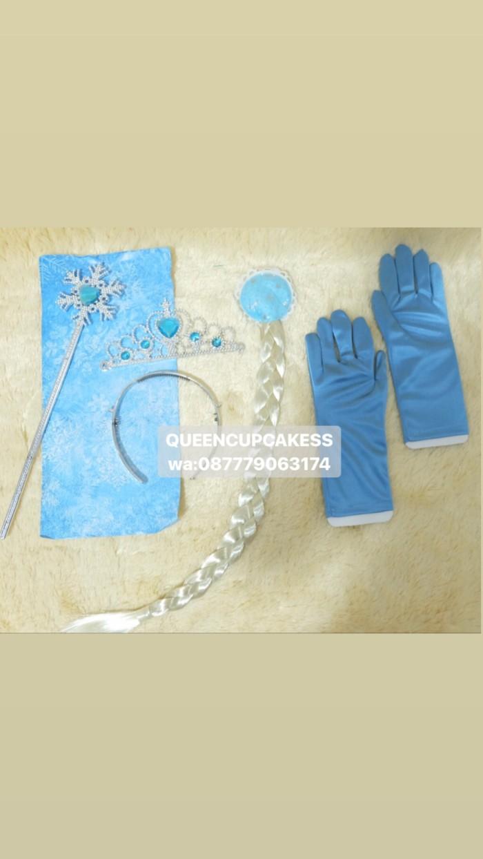 Jual Bando Set Elsa Frozen Mahkota Tongkat Rambut Sarungtangan Hiasan Pesta Kab Bekasi QUEENCUPCAKESS