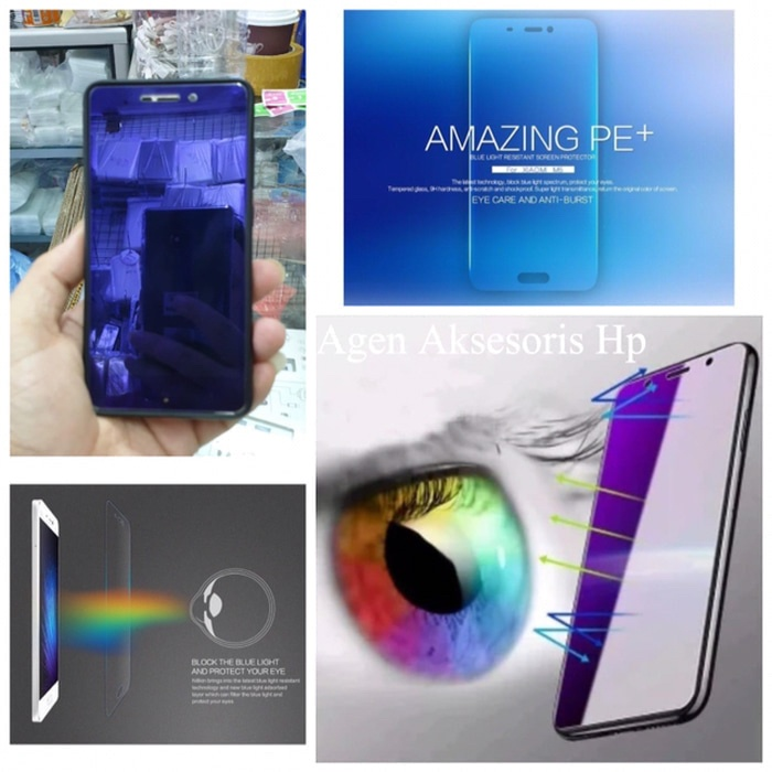 Foto Produk ANTI BLUE LIGHT Tempered Glass Samsung A6 2018 5.6 inchi Anti Radiasi dari Agen Aksesoris Hp