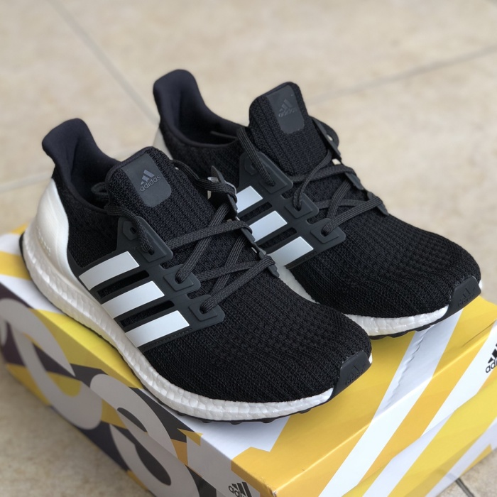 2298b4885 Jual Adidas ultra boost 4.0 core black white show your stripes ...