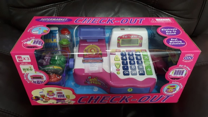 Foto Produk Check Out Cash Register Mainan Anak Kasir Kasiran Supermaket Uk Besar dari Lumi Toys