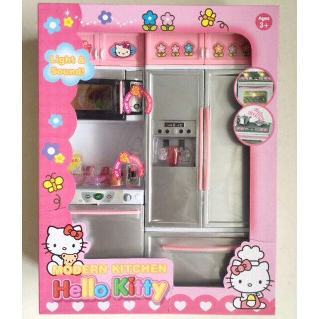 Hello Kitty Kitchen Cooking Toy Mainan Dapur Set / Mainan Kulkas