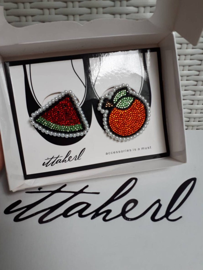 Ittaherl Clip Fritto 1 pair - Watermelon Orange New