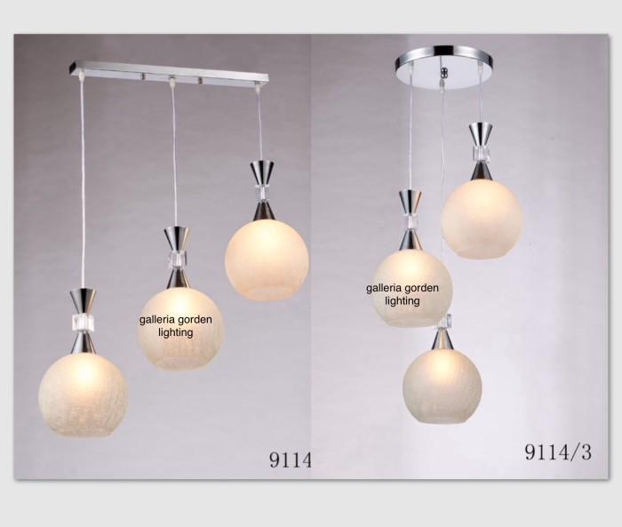 Jual Lampu Gantung Minimalis Dekorasi Ruang Tamu Meja Makan 9114 3 Dki Jakarta Galleria Gorden Lighting Tokopedia