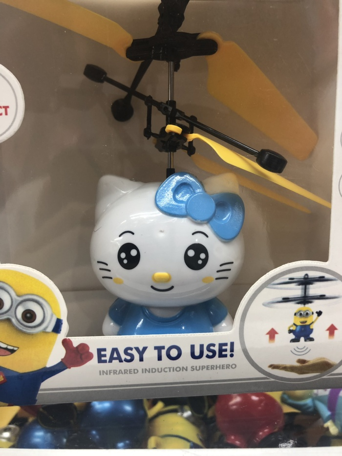 Flying toy hello kitty mainan terbang cewe