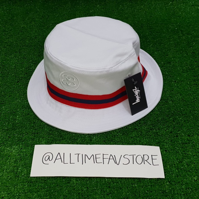 420521fa8bc Jual Topi Stussy Link Band Bucket Hat White Original BNWT - alltime ...