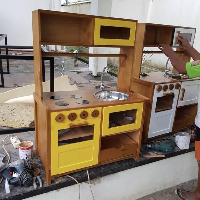 Jual Kitchen Set Kayu Anak Kuning Kota Depok Si Taso Tokopedia