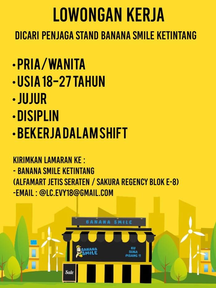 Jual Dicari Karyawan Jaga Stand Banana Smile Ketintang Surabaya Kota Surabaya Banana Smile Tokopedia